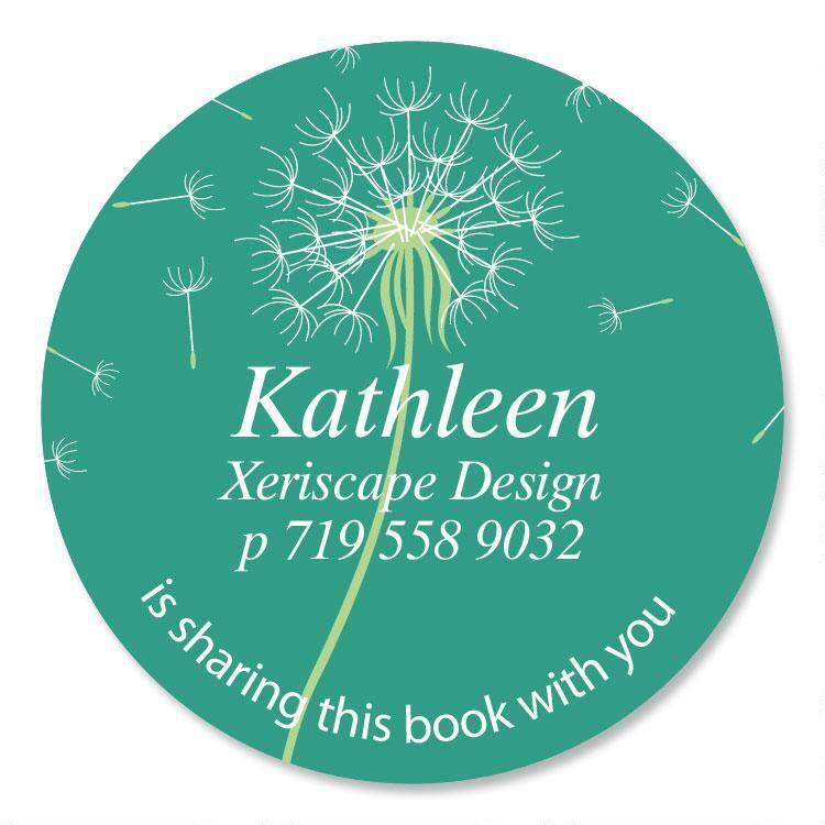 Dandelion  Round Bookplates