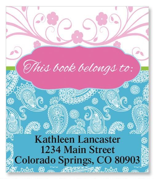 Pampered Paisley Bookplates