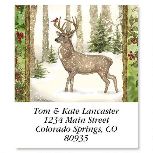 Christmas Pine Select Return Address Labels