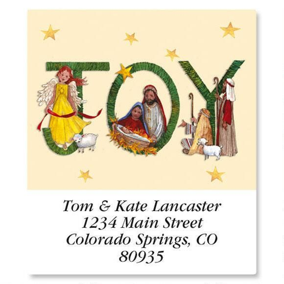 Joy Nativity Select Address Labels
