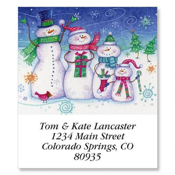 Snow Family Select Address Labels