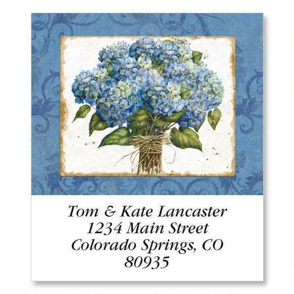 Blue Hydrangea Select Address Labels