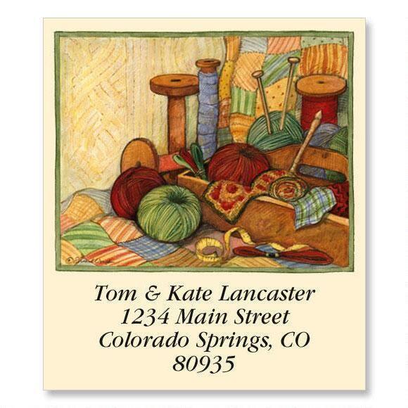 Knitting Select Return Address Labels