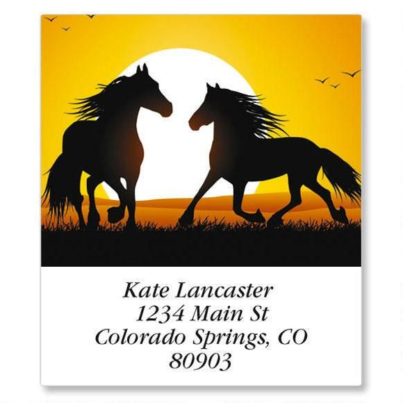 Horse Silhouette Select Return Address Labels