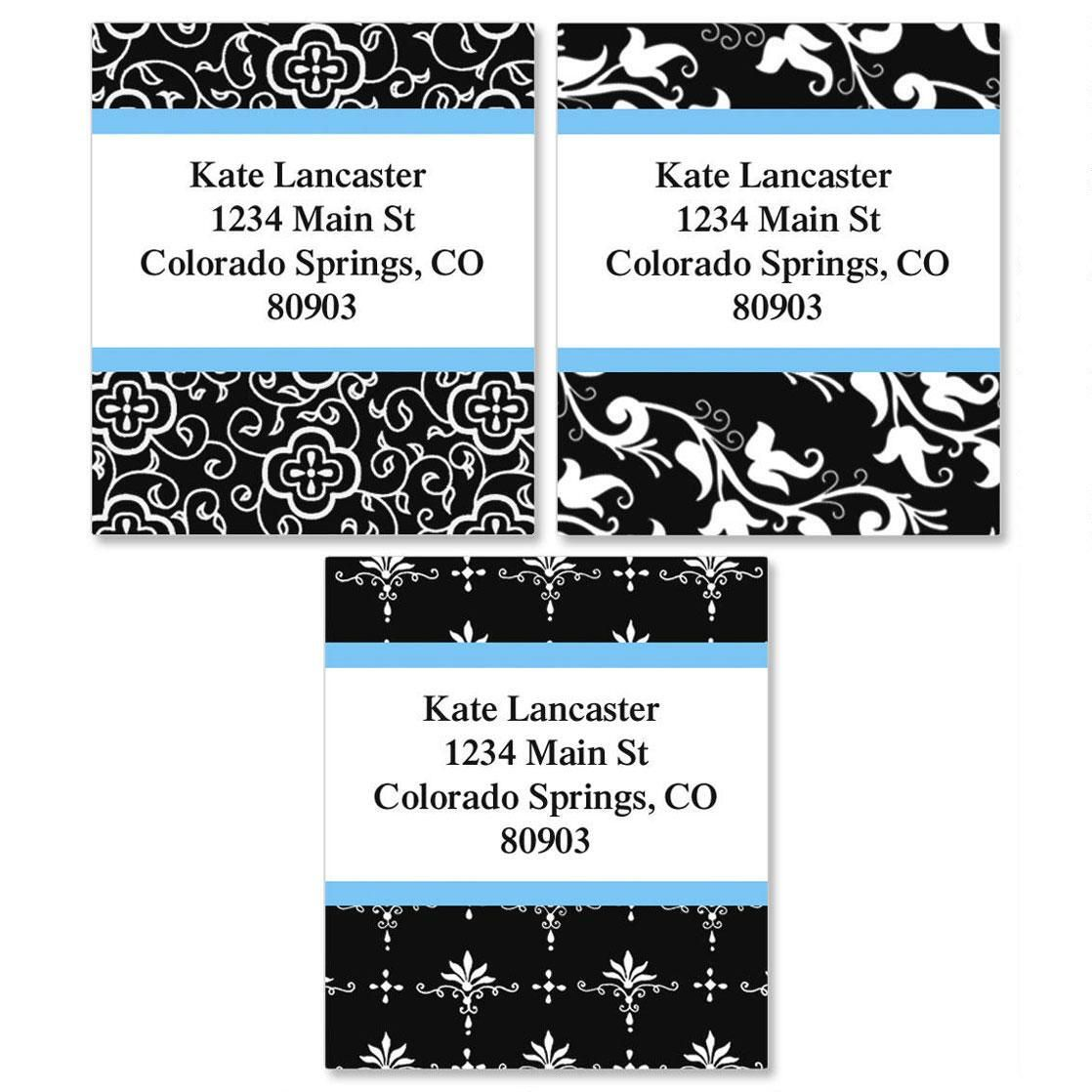 Black Elegance Select Return Address Labels   (3 Designs)