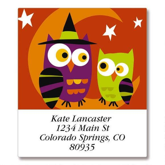 Halloween Owls Select Return Address Labels