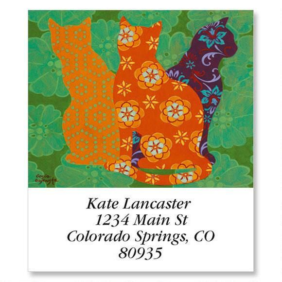Cat In Patterns Select Return Address Labels