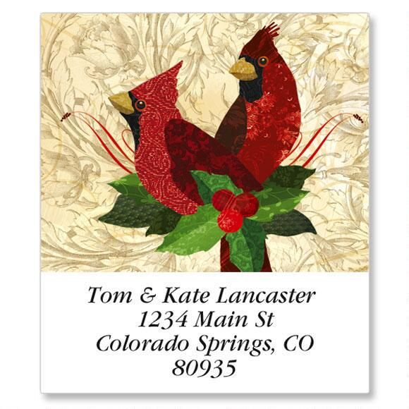 Holiday Cardinals Select Return Address Labels