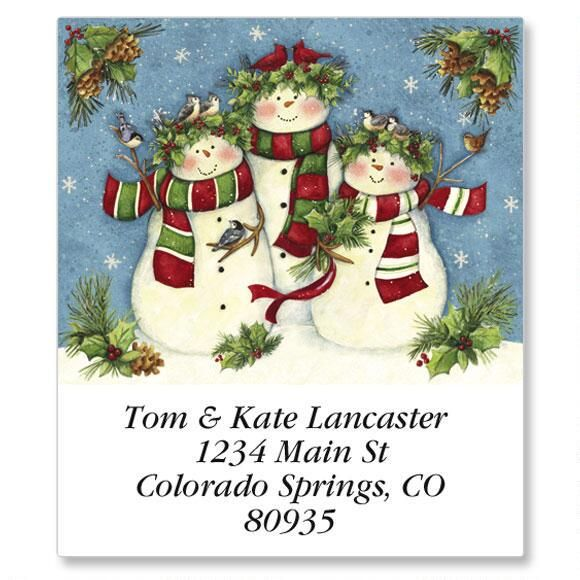 Snow Family Trio Select Return Address Labels