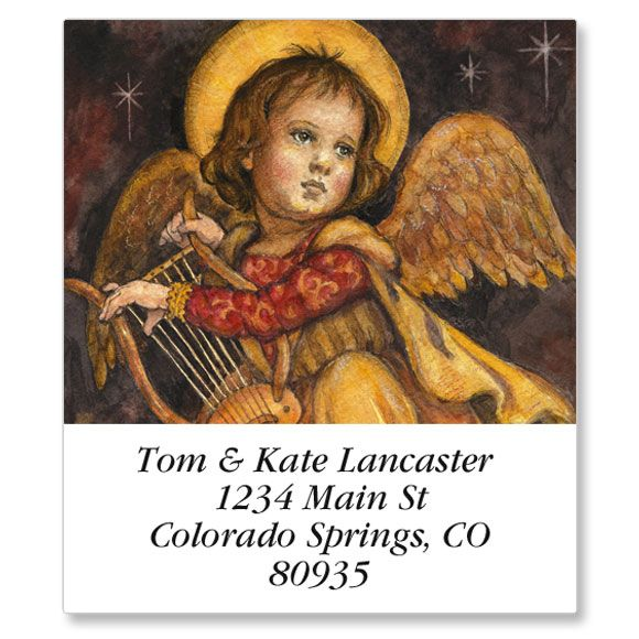 Christmas Angel Select Address Labels