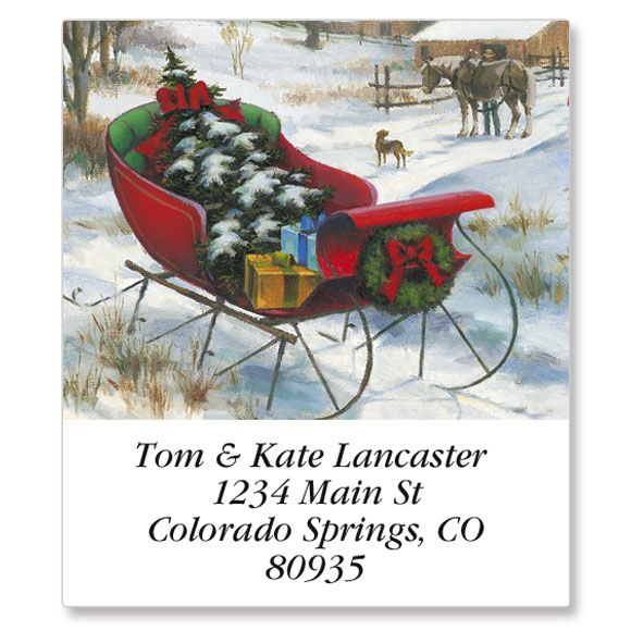 Bringing Home  the Tree Select Return Address Labels