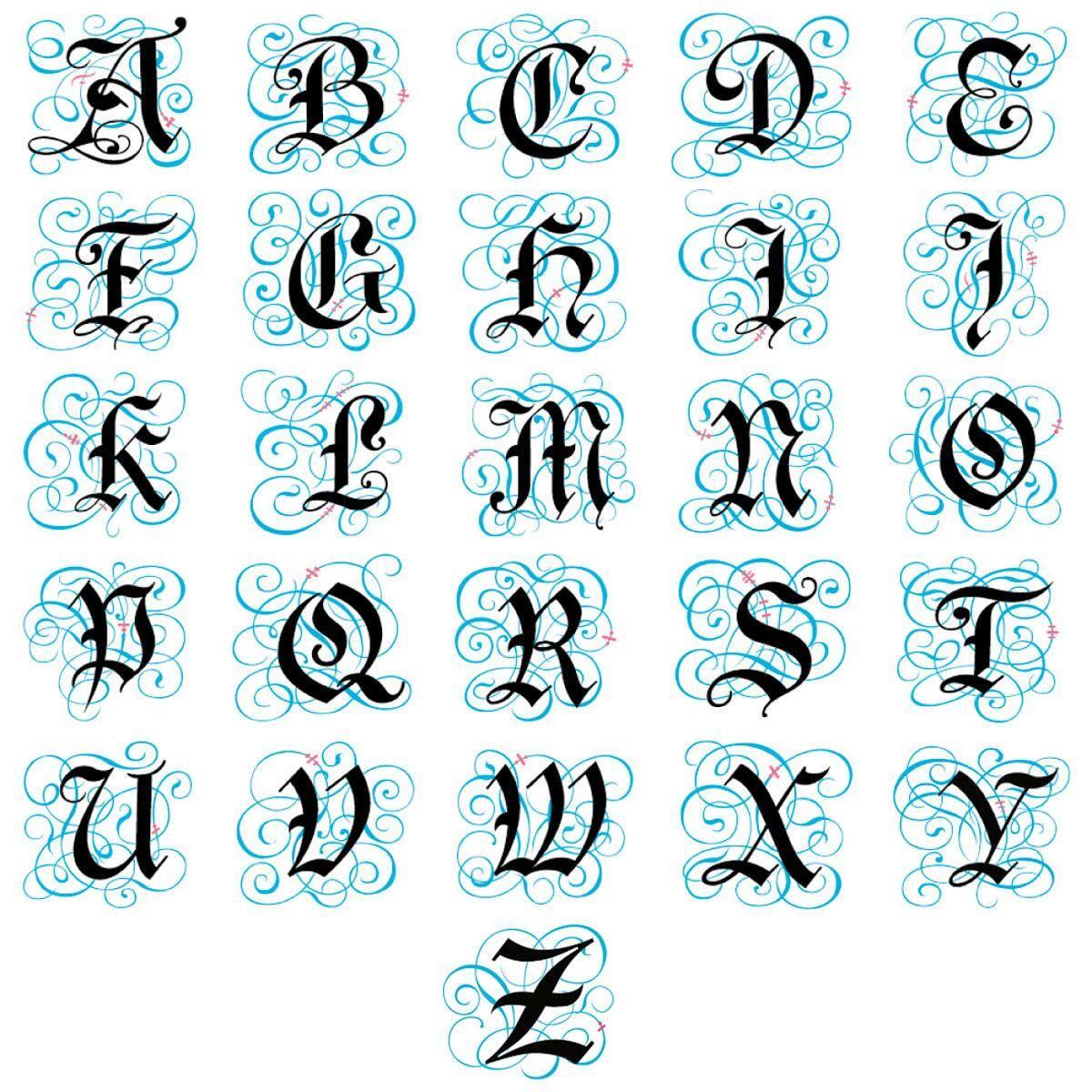 Gothic Monogram Select Address Labels