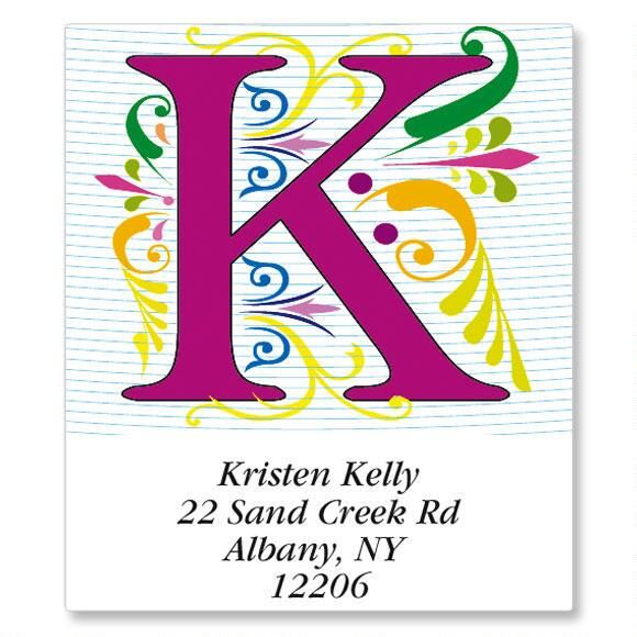 Regal Monogram Select Address Labels