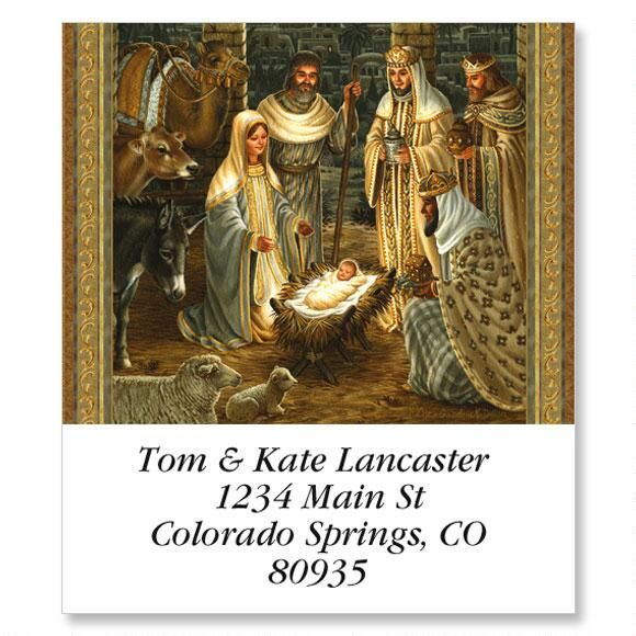 Golden Nativity Select Address Labels