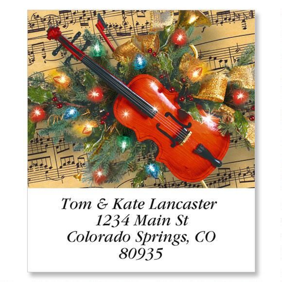 Christmas Music Select Return Address Labels