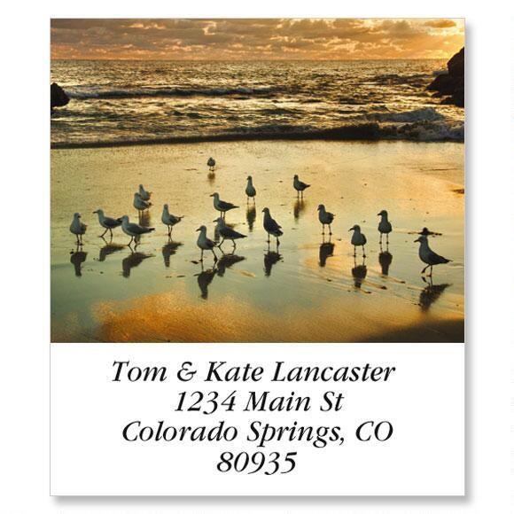 2 Rocks Sunset Select Return Address Labels