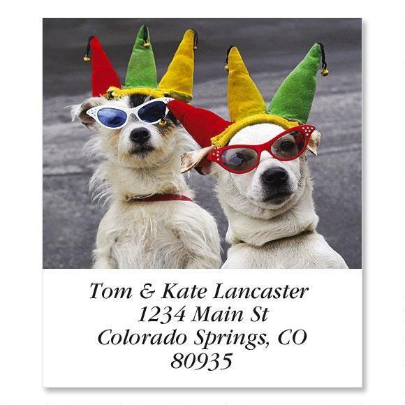 Dog Clown  Select Return Address Labels