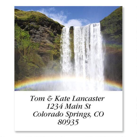 Skogafoss Waterfall  Select Address Labels