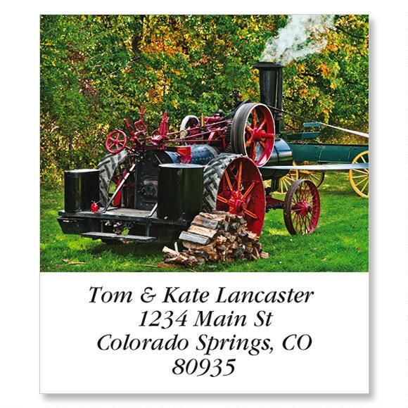 Steam Tractor Select Address Labels