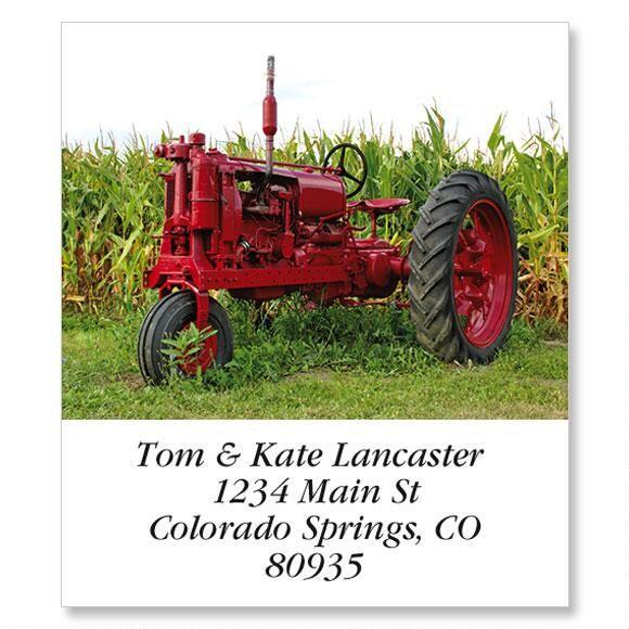 Antique Farm Tractor Select Address Labels