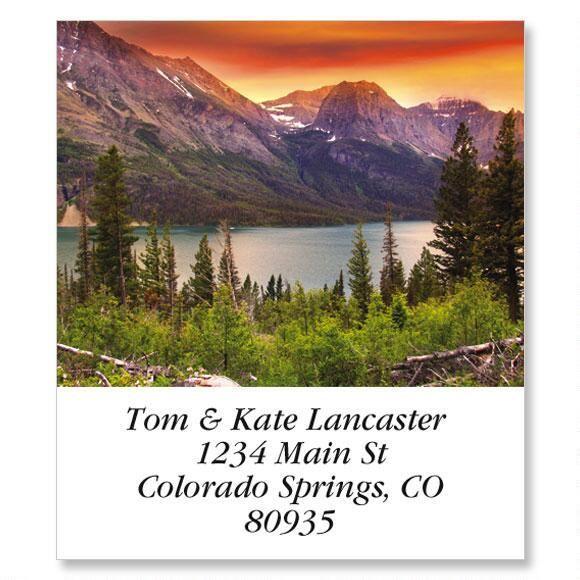 Glacier National Park Select Address Labels