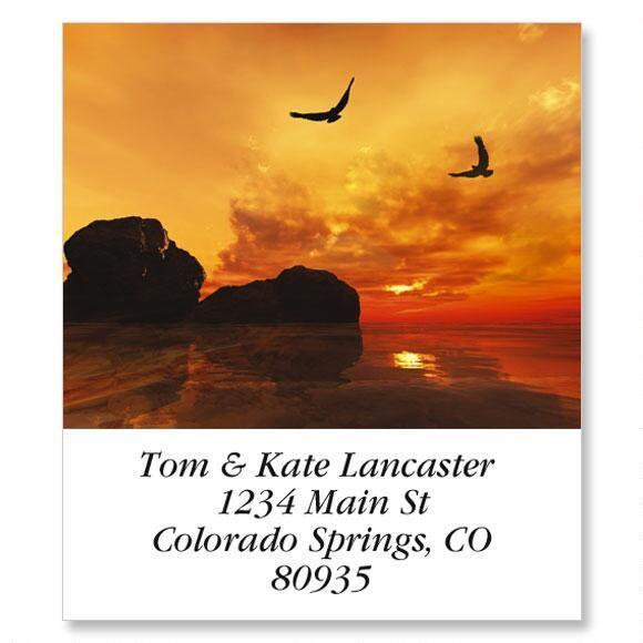 Eagles At Sunset Select Address Labels