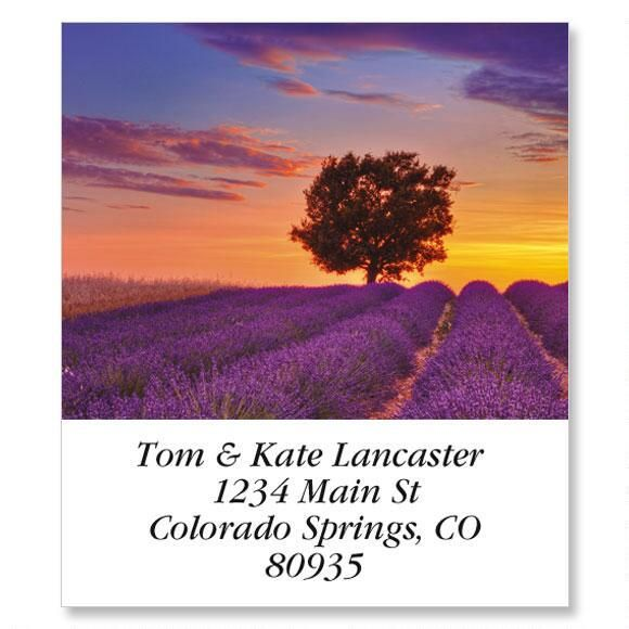 Sunset And English Lavender Select Return Address Labels