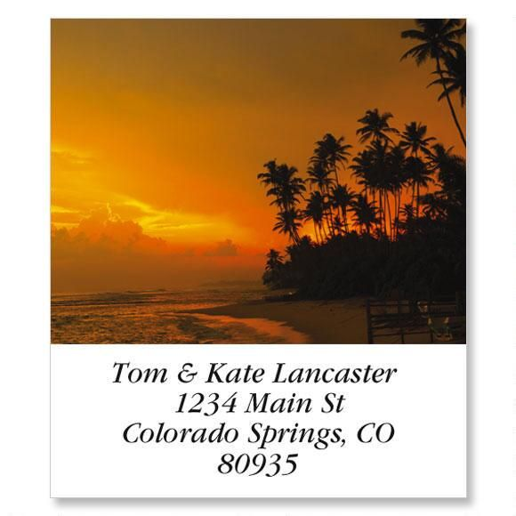 Sunset In The Tropics Select Address Labels