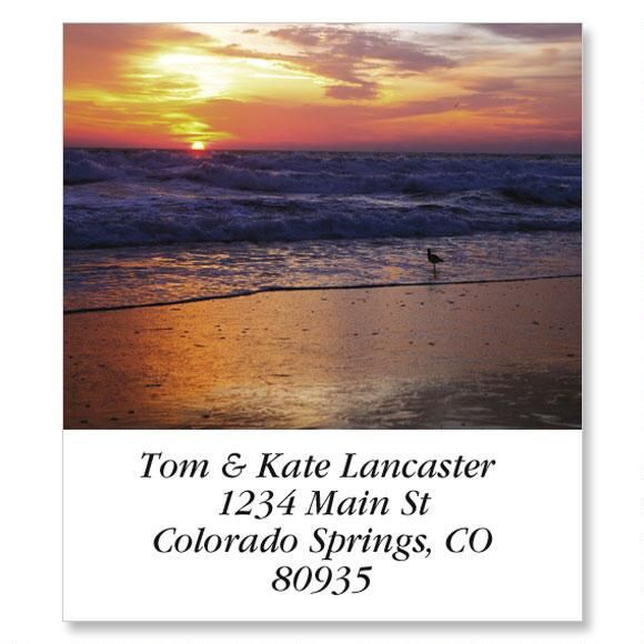 Sunrise On The Shore Select Return Address Labels