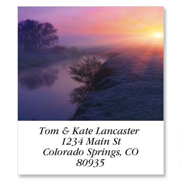 Colorful Dawn Select Return Address Labels