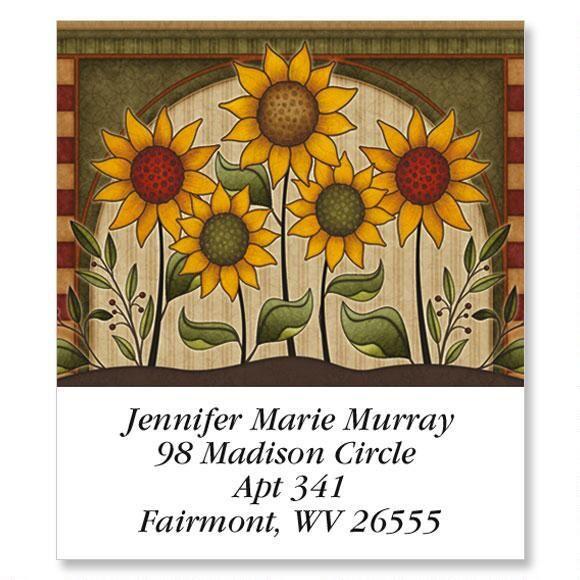 Angela's Sunflowers Select Return Address Labels