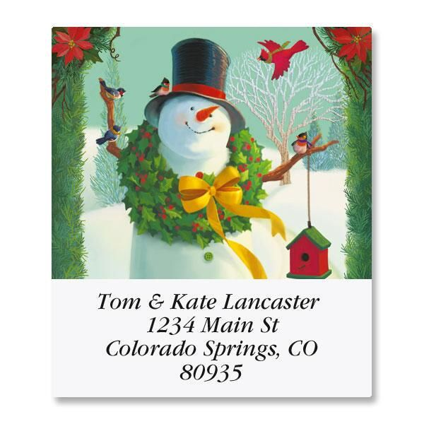 Welcome Snowman Select Return Address Labels