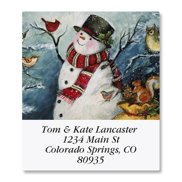 Forest Snowman Select Address Labels