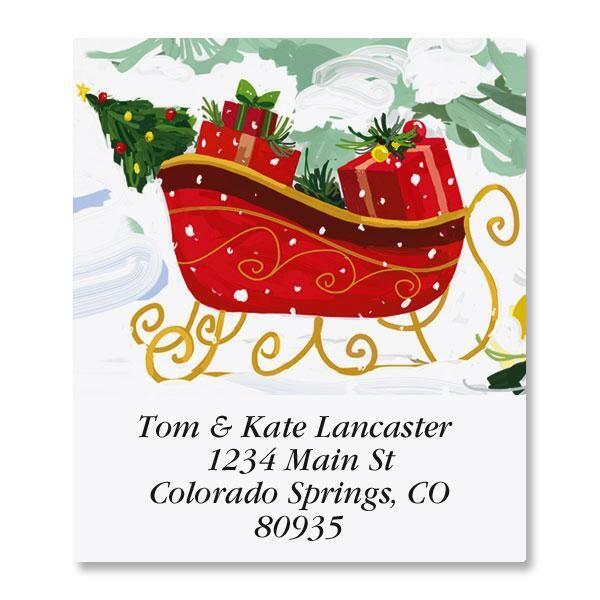 White Christmas Select Return Address Labels