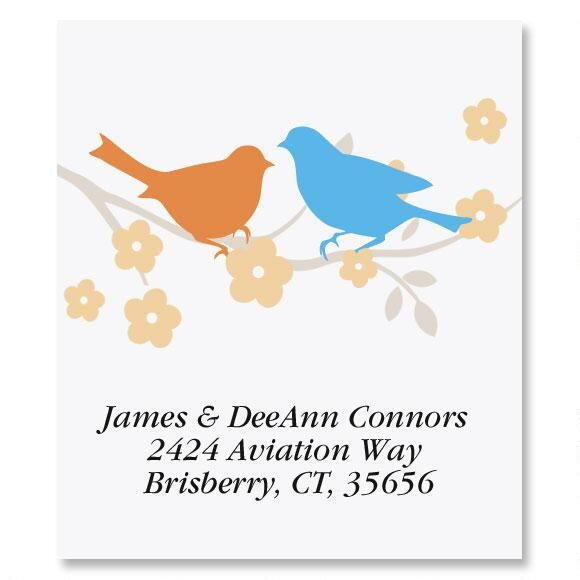 Love Birds Select Return Address Labels