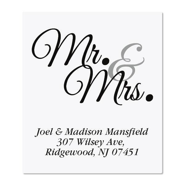 Mr. & Mrs. Select Return Address Labels