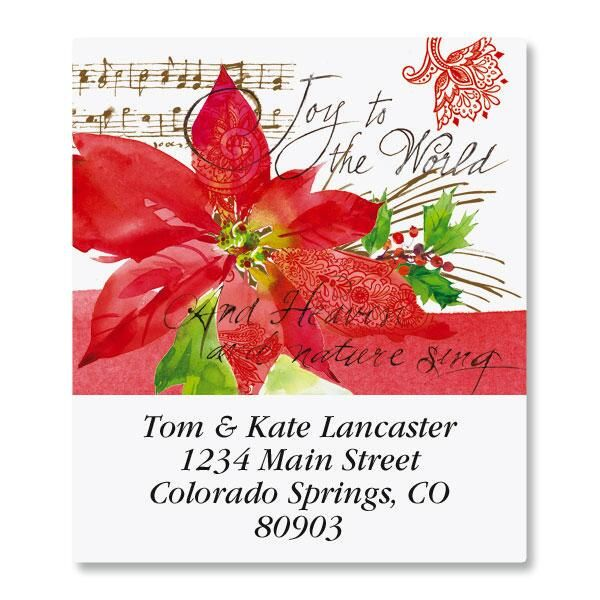 Poinsettia Melody Select Return Address Labels