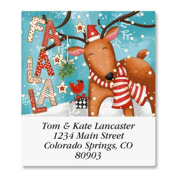 Reindeer Cheer Select Return Address Labels