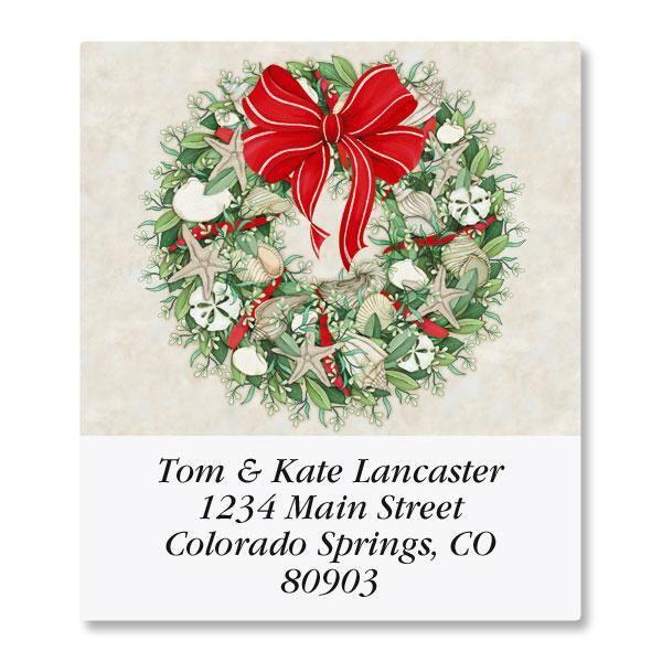 Coastal Wreath Select Address Labels