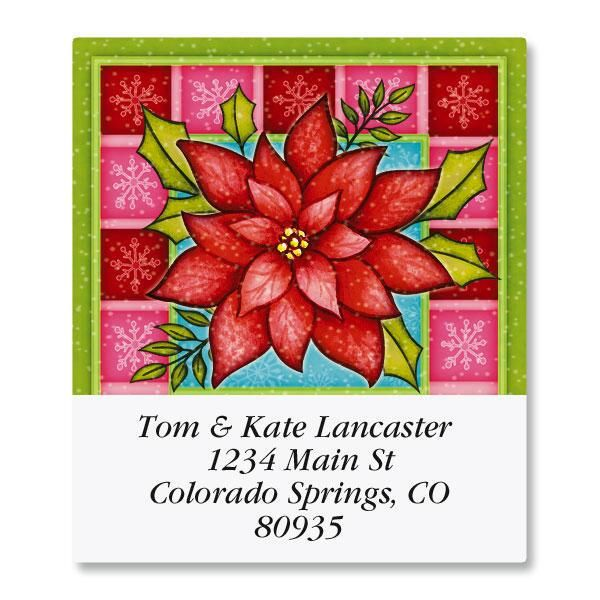 Red Bloom Select Return Address Labels