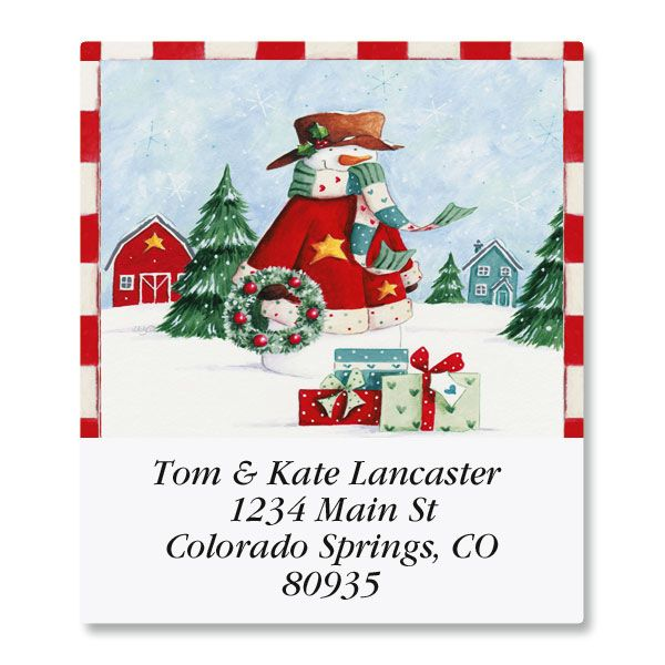 Forest Snowman Select Return Address Labels