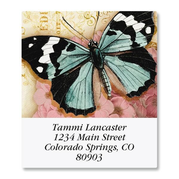 Butterfly Select Return Address Labels
