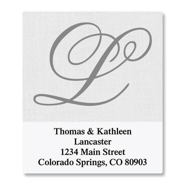 Brushed Initial Select Return Address Labels