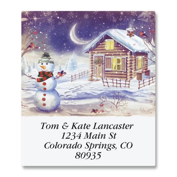 Winter's Calm Select Address Labels