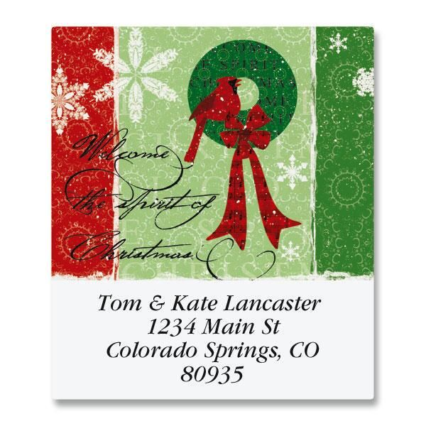 Christmas Spirit Select Return Address Labels