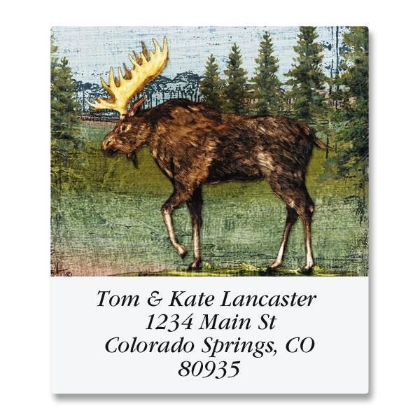 Christmas Moose Select Return Address Labels