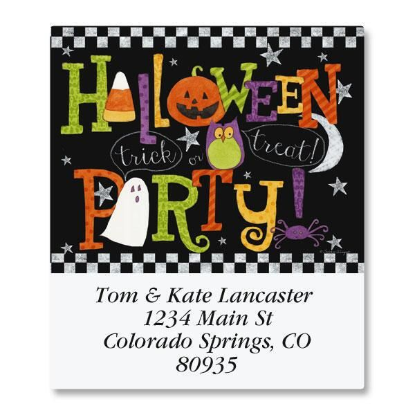 Halloween Party Select Return Address Labels