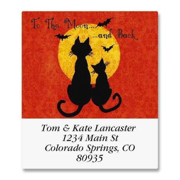 Moon Cats Select Address Labels