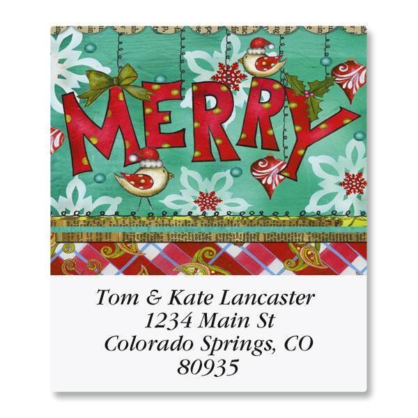 Merry Plaid Select Address Labels