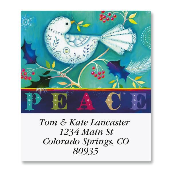 Prismatic Peace Select Return Address Labels